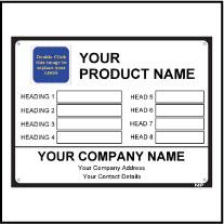 Metal Label Template Data007