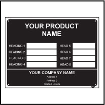 160153_54 Customize Metal Label Template
