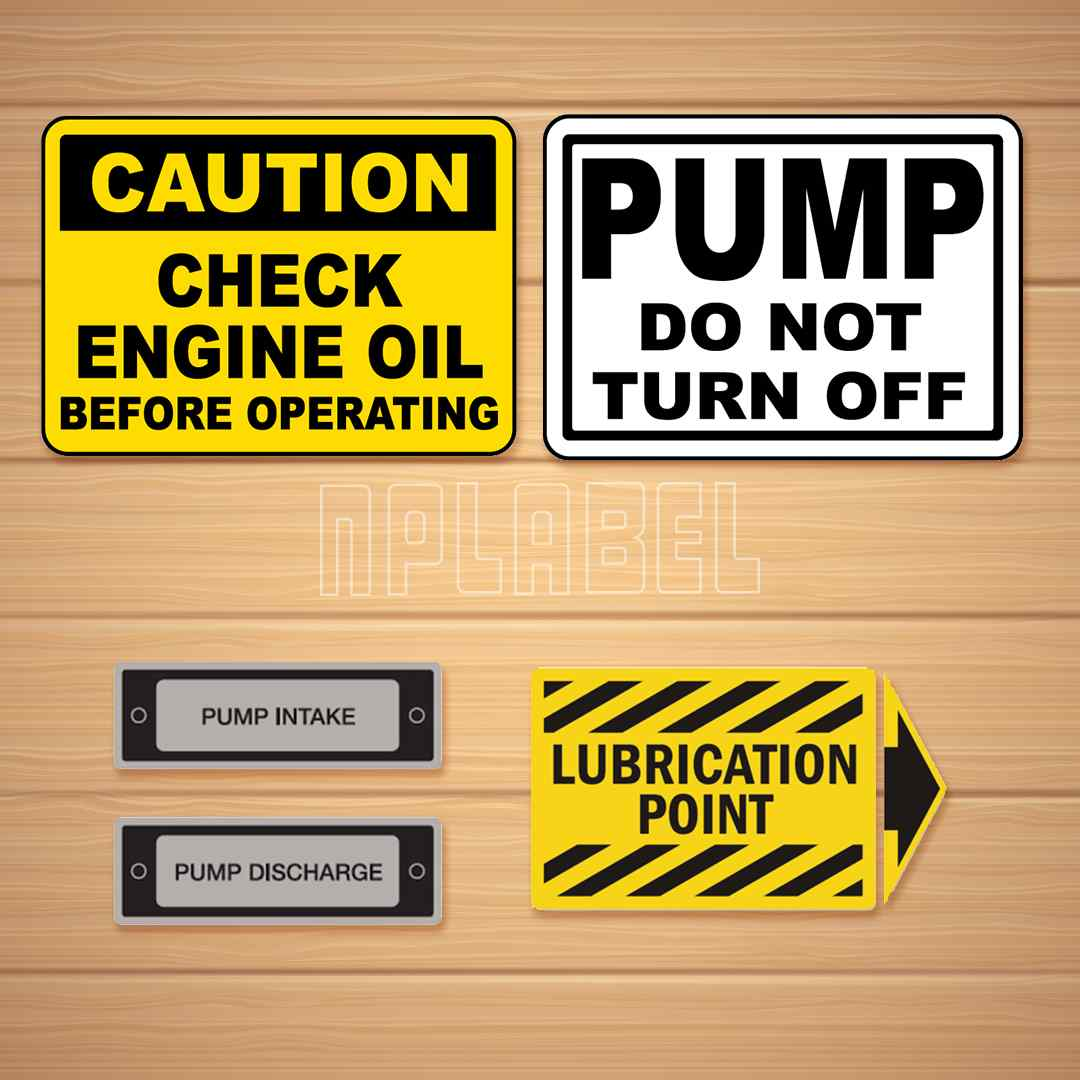 Pump / Motor / Machinery Labels