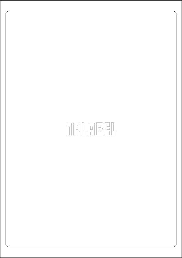 GU1001 Multipurpose A4 Label Sheets