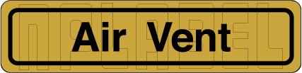120011BG Air Vent Sticker