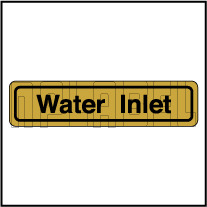 120011AG Water Inlet Sticker