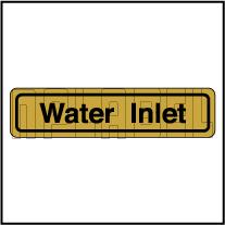 120011AG Water Inlet Sticker