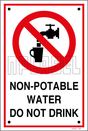 140031 Non Potable Water Sign Name Plates