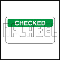 140381 Checked Stickers & Labels