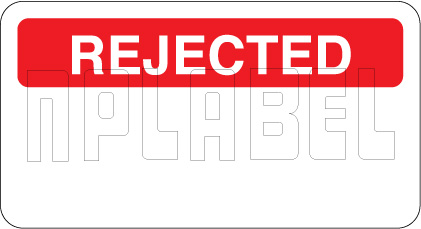 140383 Rejected Paper Sticker