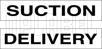 162546 Suction/Delivery Labels