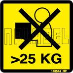 140544 Max Weight 25 KG Sticker