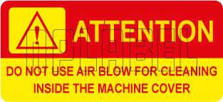 140640 Attention-Air Blow Warning Labels Stickers