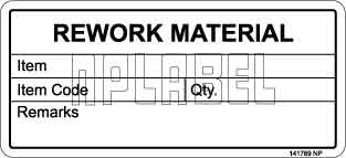 141789 Rework Material Stickers & Labels