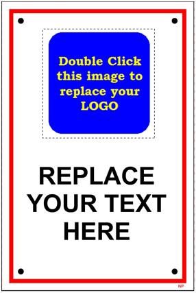 141829ML General Custom Signage Name Plate