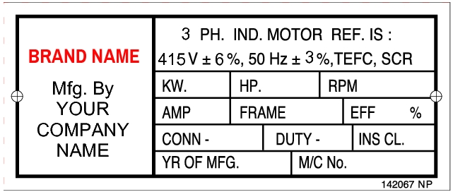 142067 Customize Induction Motor Labels
