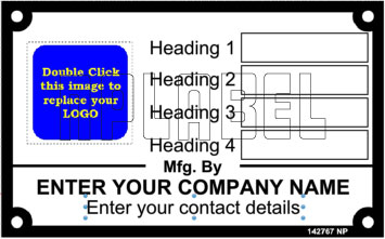 142767 Data Name Plate