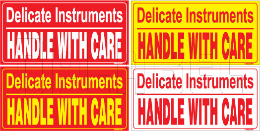 150450 Handle with Care Stickers for Delicate Instruments