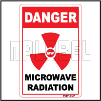 150516 Microwave Radiation Warning Label & Sticker