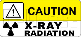 150517 X-Ray Radiation Caution Labels & Sticker