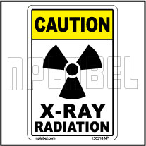 150518 X-Ray Radiation Warning Label & Sticker