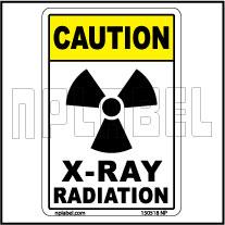 150518 X-Ray Radiation Warning Label & Sticker