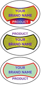 150550 Oval Dome Labels