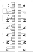 150940_41 Measuring Scale 0-60mm