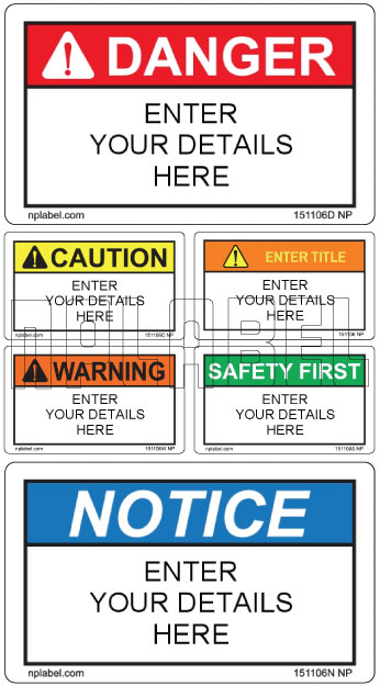 151106 Customize Safety Caution Stickers