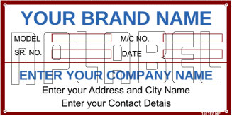 151107 Customize Data Plate