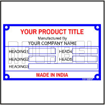 151108 Customize Data Name Plate
