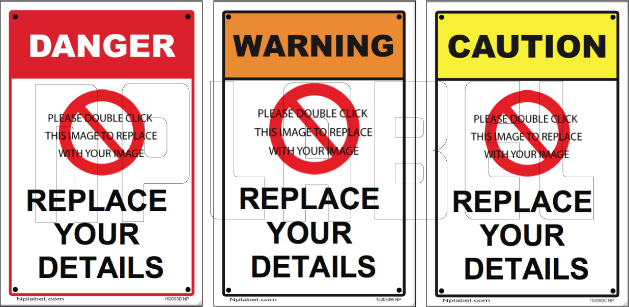 152093 Customize Caution / Warning Labels