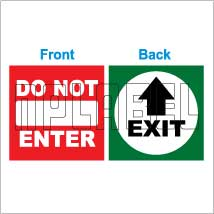 152536 Exit/Do not Enter Sticker