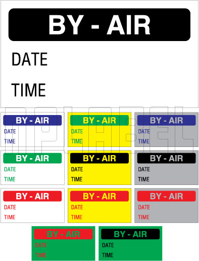 152641 International Courier Sticker - By Air