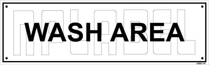 152651 Wash Area Name Plates