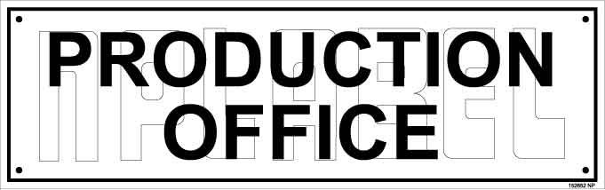 152652 Production Office Name Plates