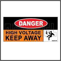 153279 DANGER High Voltage Keep Away