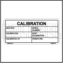 153287 Calibration Data Stickers & Labels