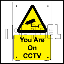 153611ML Your are on CCTV Name Plate & Signs