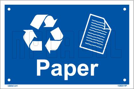 153624 Paper Waste Dustbin Label