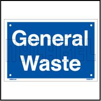 153625 General Waste Dustbin Sticker