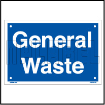 153625ML General Waste Dustbin Metal Label