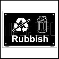153630 Rubbish Waste Dustbin Label