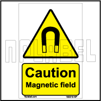 160019 Magnetic Field Signs Stickers