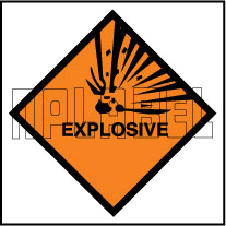 160026 Explosive Sign Sticker