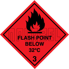 160027 Flash Point Signs Labels & Sticker