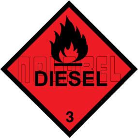 160029 DIESEL Signs Stickers
