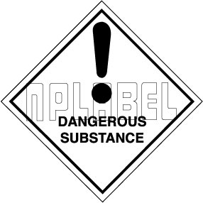 160033 DANGEROUS SUBSTANCE Stickers