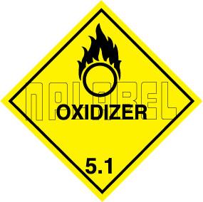 160046 OXIDIZER Sign Stickers