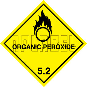 160047 ORGANIC PEROXIDE Sign Stickers