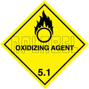 160053 OXIDIZING AGENT Sign Sticker