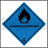 160054 DANGEROUS WHEN WET Signs Stickers