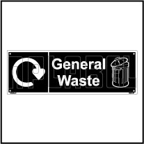 160064 General Waste Recycle Dustbin Label