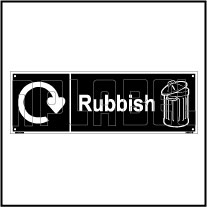 160070 Rubbish Waste Recycle Dustbin Label